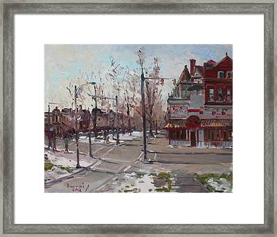 Four Corners At Bidwell Parkway Framed Print by Ylli Haruni