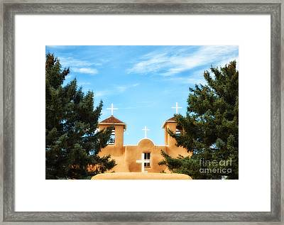 Four Crosses Framed Print by Tamera James