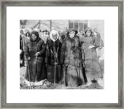 Four Elderly African American Women Framed Print by Everett
