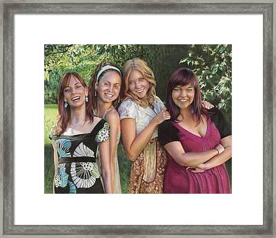Four Friends  Framed Print by Laura Leonard