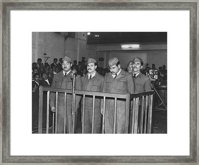 Four Iraqi Airmen On Trial For Taking Framed Print by Everett