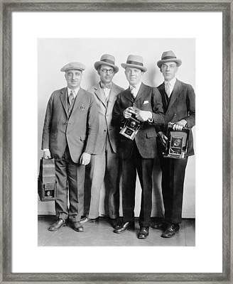 Four Members Of The White House News Framed Print by Everett