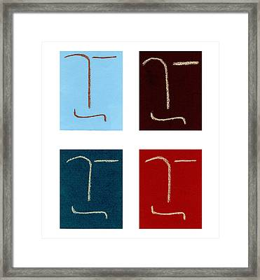 Four Of A Kind Framed Print by Michaela Mitchell