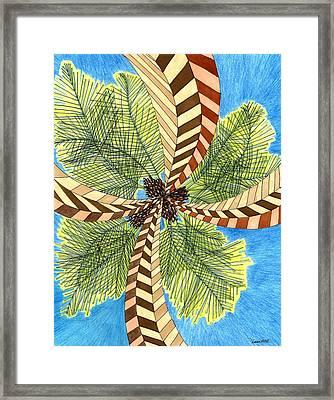 Four Palms Framed Print