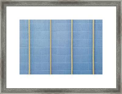 Four Ropes Against A Wall Framed Print