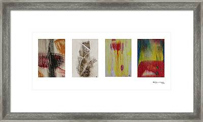 Four Seasons In Abstract Framed Print by Xoanxo Cespon