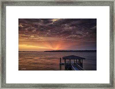 Four Seconds Of Sunset Framed Print by Phill Doherty
