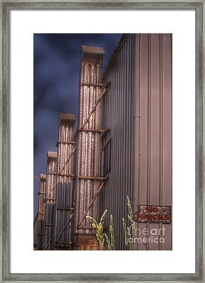 Four Stacks Framed Print by The Stone Age