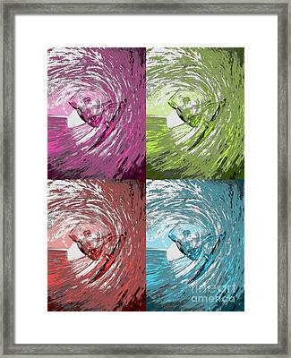 Four Waves Framed Print