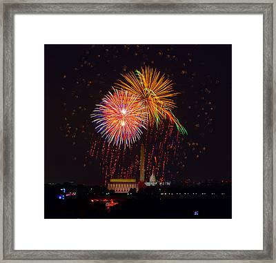 Fourth Of July Framed Print by David Hahn