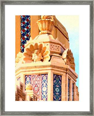Fox Theater Gargoyles Framed Print by Wingsdomain Art and Photography