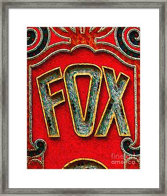 Fox Theater Oakland Sign Framed Print by Wingsdomain Art and Photography