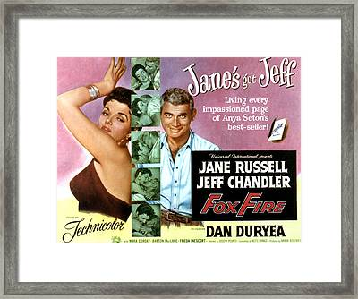 Foxfire, Jane Russell, Jeff Chandler Framed Print by Everett