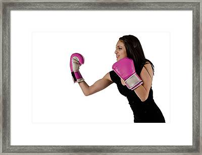 Foxy Boxer Framed Print
