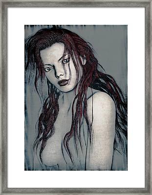 Foxy Redhead Framed Print