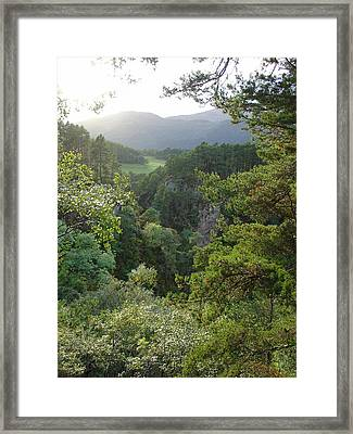 Framed Print featuring the photograph Foyers Valley by Charles and Melisa Morrison