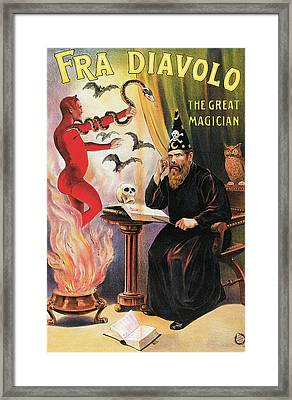 Fra Diavolo The Great Magician Framed Print by Unknown