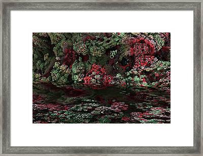 Fractal Alien Landscape Framed Print by David Lane