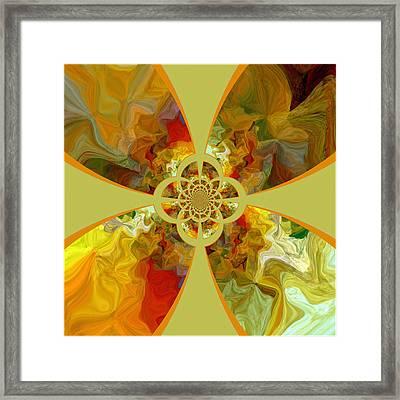 Fractal Floral Framed Print by Bonnie Bruno