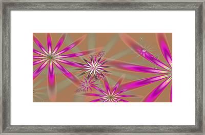 Fractal Flowers Framed Print
