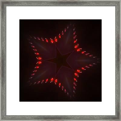Fractal Star Framed Print by Steve K