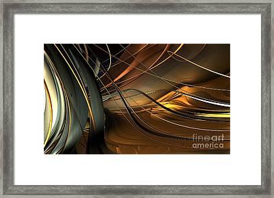 Fractal - Strings Framed Print by Bernard MICHEL