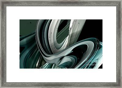 Fractal - The Shortest Way Framed Print by Bernard MICHEL