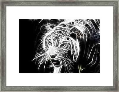 Fractal Tiger Framed Print
