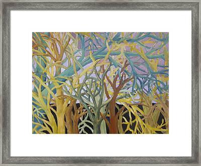 Fractal Trees Framed Print by Rosemary Cotnoir