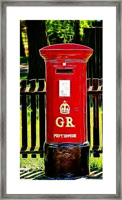 Fractalius Pillar Box Framed Print by Chris Thaxter