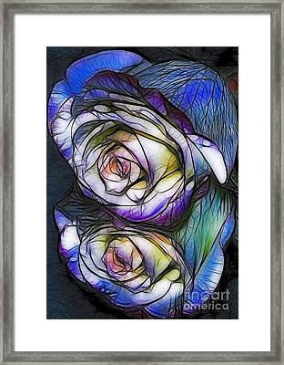 Fractalius Rose Reflection Framed Print by Marianne Troia