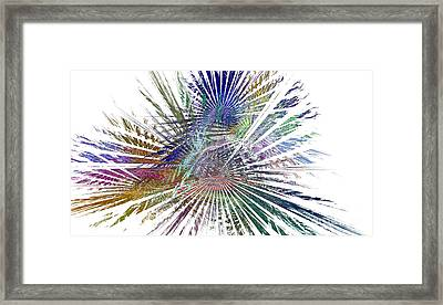 Fractura Colora On White Framed Print
