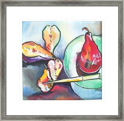 Fractured Apple Framed Print by Sue Prideaux