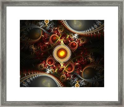 Fractured Sun Framed Print by Drake Lock