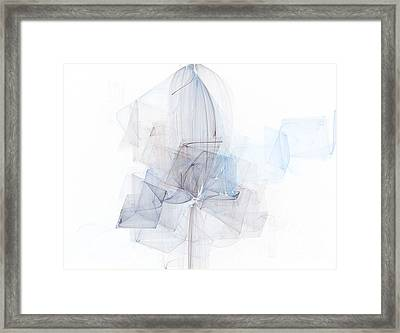 Fragile Blue Essence Framed Print