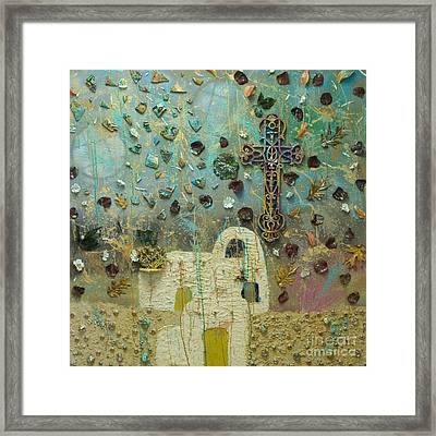 Fragmented Ascent Framed Print