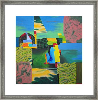 Fragments Number 8 Framed Print by Randall Weidner