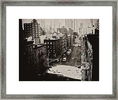 Fragments Of History - Above A New York City Street Framed Print by Vivienne Gucwa