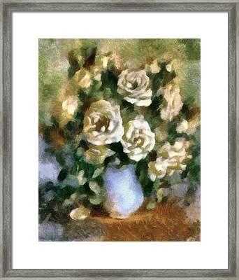 Fragrant Roses Framed Print by Georgiana Romanovna