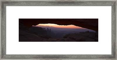 Framed Buttes Framed Print by Andrew Soundarajan