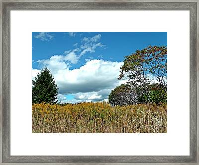 Framed Print featuring the photograph Framed Clouds by Christian Mattison