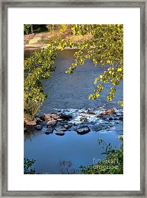 Framed Rapids Framed Print by Robert Bales