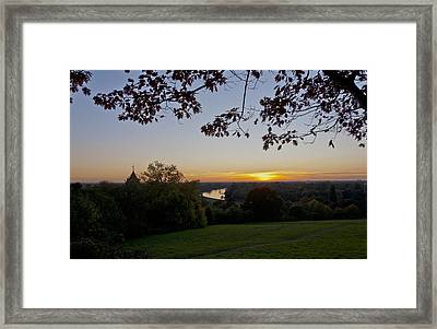 Framed Print featuring the photograph Framed Sunset by Maj Seda
