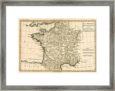 France By Regions Framed Print by Guillaume Raynal