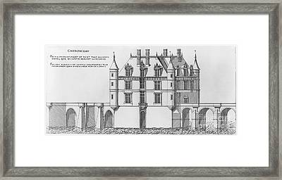 France: Chenonceau Framed Print