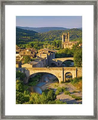 France, Languedoc, Lagrasse At Sunnrise Framed Print