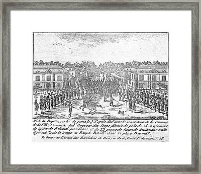 France: National Guard Framed Print by Granger