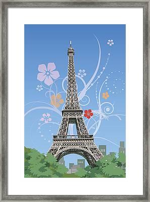France, Paris, Eiffel Tower, Capital Cities Framed Print