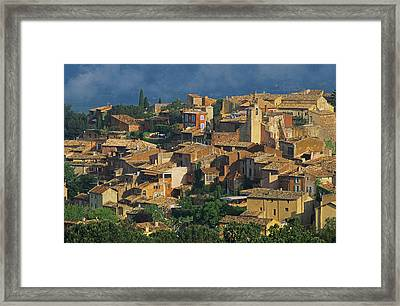 France, Provence, Vaucluse, Roussillon Village Framed Print by Bruno Morandi