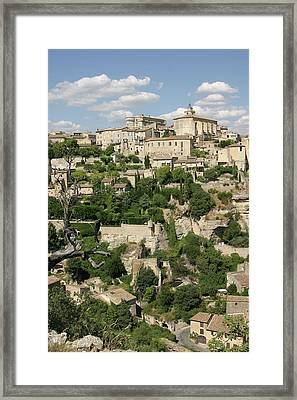 France, Provence, Village Of Gordes Framed Print by Jimmy Legrand